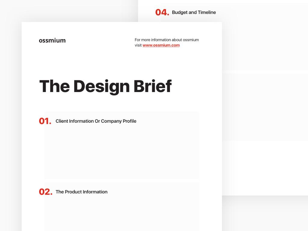 image The design brief