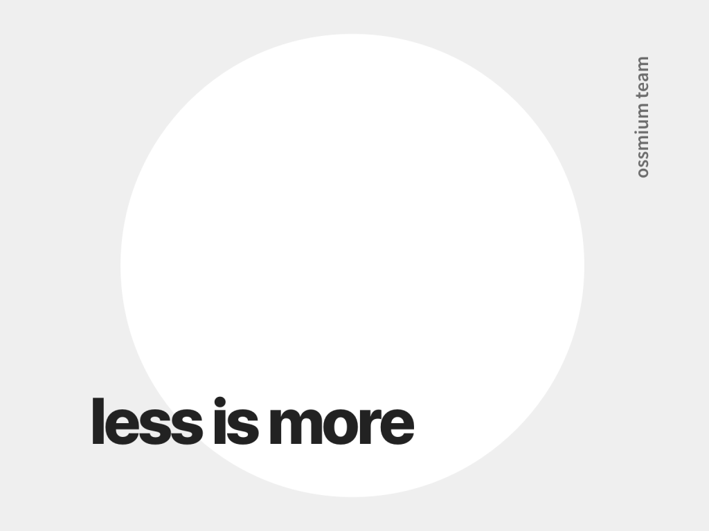 photo Less is more in UI design